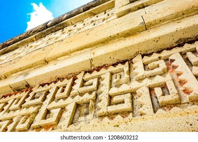 Detail of ruins in Mitla near Oaxaca city. The most important of the Zapotec culture centers in Mexico.