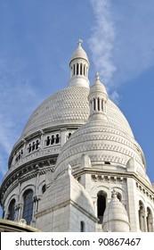 A detail of the Sacre-Coeur church, Montmartre, Paris