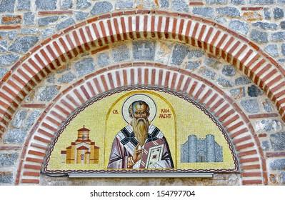 Detail of Saint Panteleimon Church from Ohrid