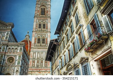 detail of Santa Maria del Fiore in Florence, Italy