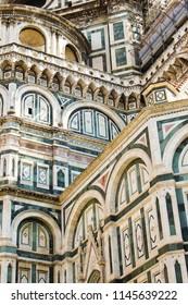 Detail of Santa Maria della Fiore cathedrale in Firenze, Toscana, Italy