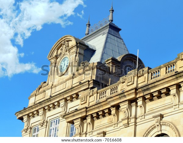 Detail of Sao Bento Train station in Oporto. The first train arrived here in 1896, but the building (designed with a French Renaissance touch) opened in 1903.