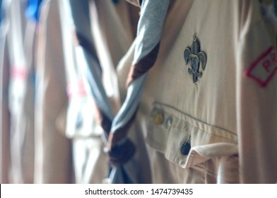 Detail of scout costume.  Scout lily.  It is a Czech scout costume.