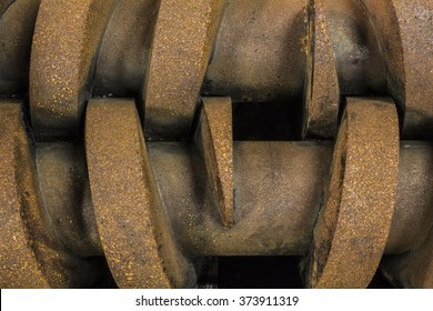 Detail of a screw pump