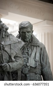 Detail of sculpture inside the Royal Air Force Bomber Command Memorial in Green Park London, UK. Photograph taken on the day of unveiling, 28th June 2012.