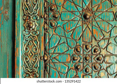 A detail shot of an ancient ottoman door