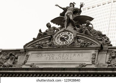 Detail shot of the architecture of the Grand Central Terminal in New York city, USA.