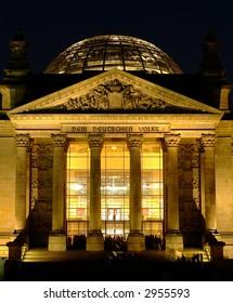 Detail shot of Berlin Reichstag