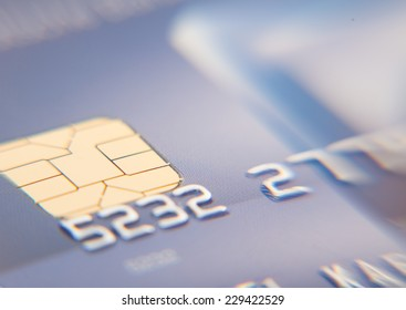 Detail shot of a credit card