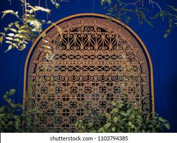 Detail Shot of Jardin Majorelle in Marrakech, Morocco