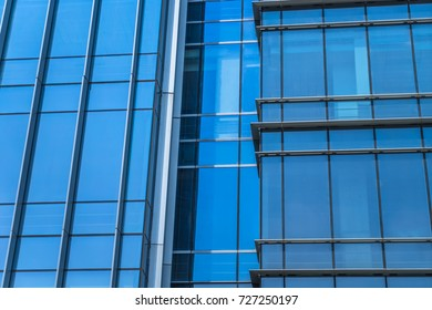 detail shot of modern business buildings in city