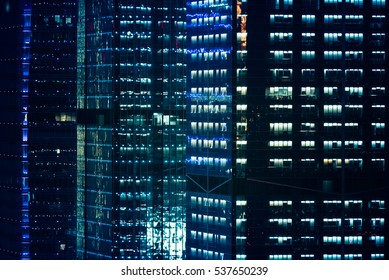 detail shot of skyscrapers in Shenzhen,China.