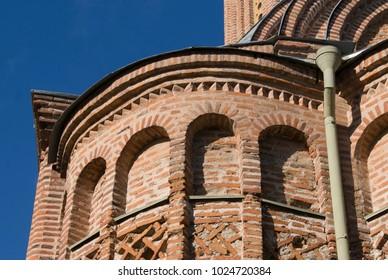 detail of the side altar of Pyatnistka church in Chernihiv, Ukraine