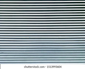 Detail of silver aluminum wall louver on the wall for ventilation