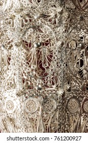 Detail of silver incensory filigree work