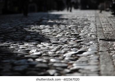 Detail of Skadarlija street in Belgrade, Serbia
