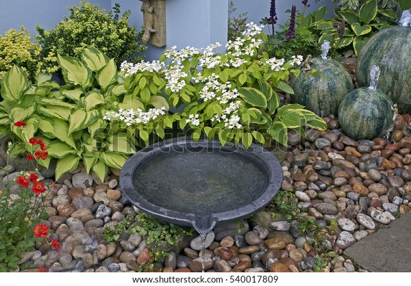 Detail Small Courtyard Garden Water Features Stock Photo Edit Now