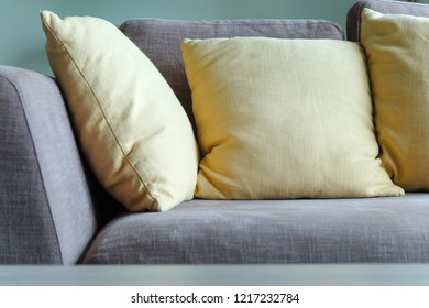 Detail of sofa in living room