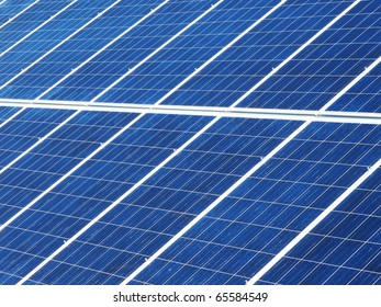 Detail of the solar panels