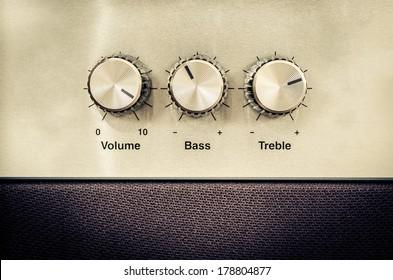 Detail of sound volume controls in vintage style - Shutterstock ID 178804877