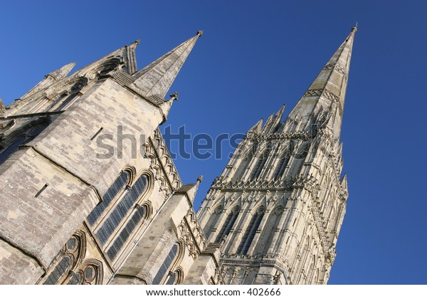 Detail of Spire, Salisbury Cathedral, England