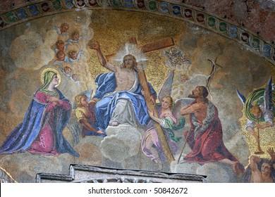 Detail of St Mark's Basilica, Venice