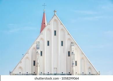 Detail of St. Nicholas' Deanery church, Znojmo, southern Moravia, Czech republic. Religious architecture. Travel destination.