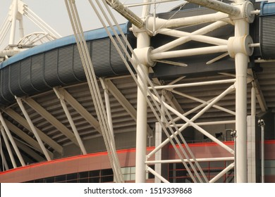 Detail of the stadium of Cardiff