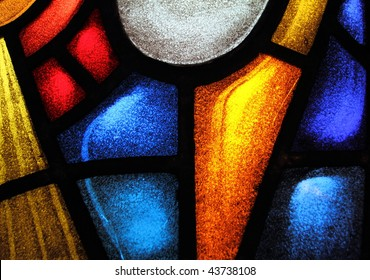 Detail of a stained glass window 2