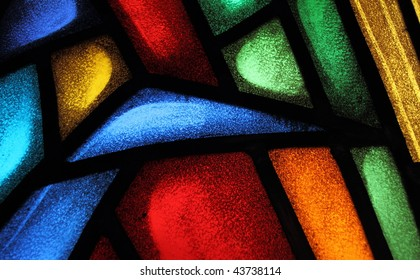 Detail of a stained glass window 4