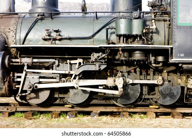 detail of steam locomotive, Colorado Railroad Museum, USA