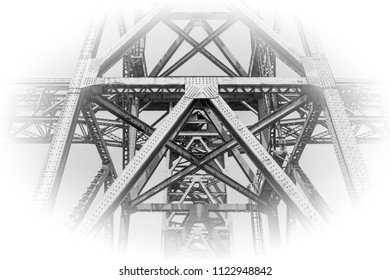 Detail of steet truss support structure