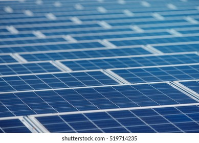 Detail stock image of Solar panel farm