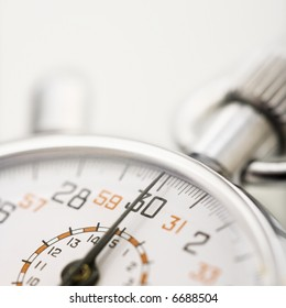 Detail of stopwatch with selective focus.