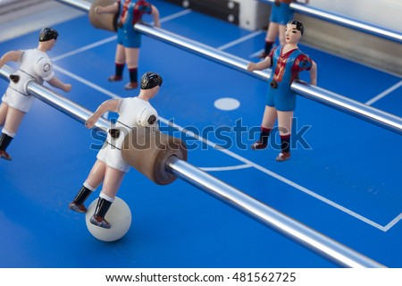 Detail Table Football Players Painted Colors Stock Photo Edit Now - Barcelona fc table