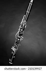 Detail take of a clarinet and its  keys