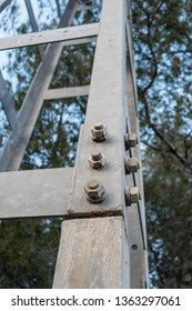 Detail take of the framework of an electricity pylons