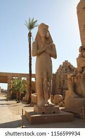 Detail of Temple of Karnak, Luxor, Egypt