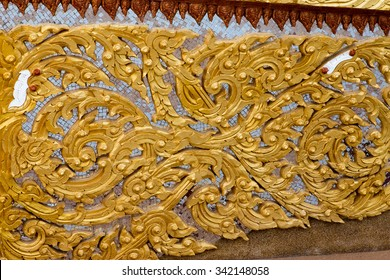 Detail of thai style in temple Thailand