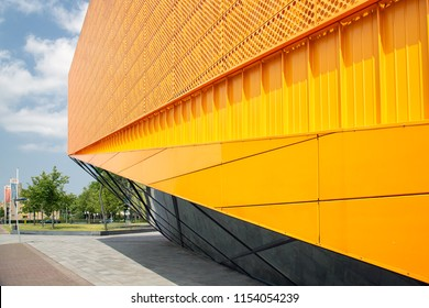 Detail of theater in Lelystad, the Netherlands