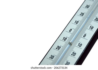 Detail of Thermometer isolated on white background