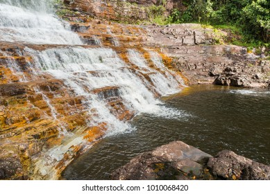 Detail of toron Falls in Canaima National Park, Venezuela