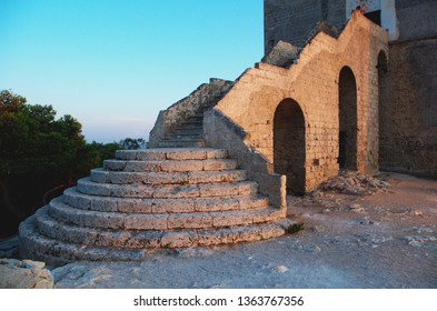 Detail of Torre Santa Maria dell_Alto, also known as Torre dell Alto (Dell_Alto watchtower). Nardo', Salento, Italy