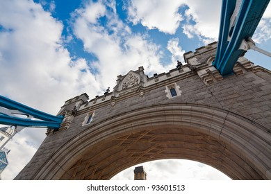 Detail of Tower Bridge, London, UK