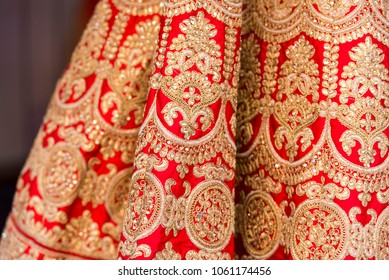 Detail of traditional Indian Winter Sari