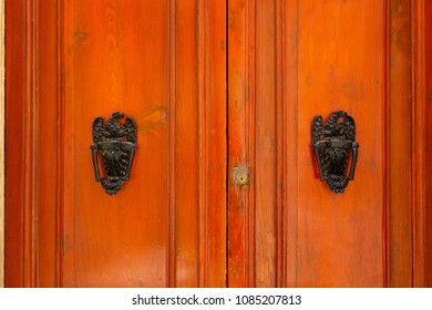 Detail of a traditional Maltese door in Mdina