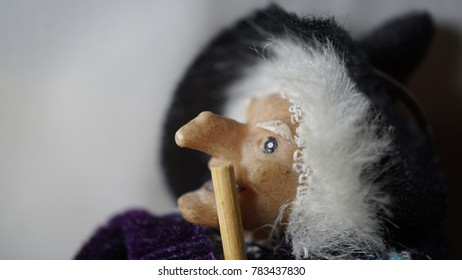 detail of traditional puppet for the epiphany