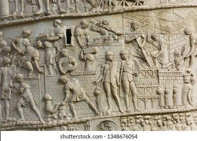 Detail from Trajan's Column in Rome