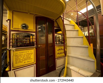 detail of tram at The National Tramway Museum,Crich,Derbyshire,UK. taken 06/04/2015