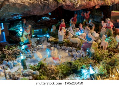 Detail of a typical Christmas Nativity